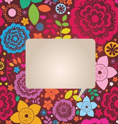 floral ornamental poster vector image