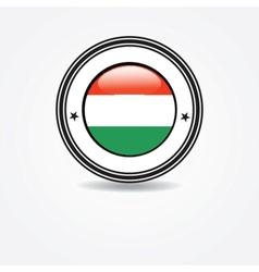 Italian flag in rubber stamp vector
