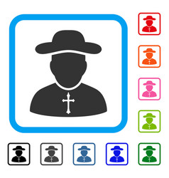 priest framed icon vector image vector image