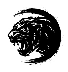 Black Panther in a grunge style vector image