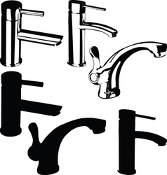 Fountain black vector image