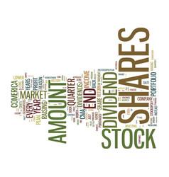good stock market tip good return text background vector image vector image