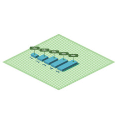 Numbered graph with increasing indicators 3d vector