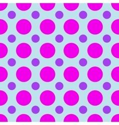 Polka dot geometric seamless pattern vector image