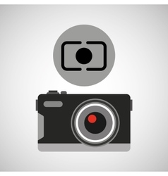 retro camera photographic vector image