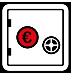 Safe icon from BiColor Euro Banking Set vector image