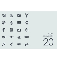 Set of promotion icons vector image