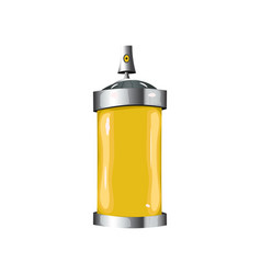 sprays with yellow paint vector image