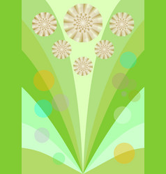 spring background with cute yellow flowers vector image vector image