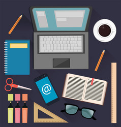 stuff for studying and business useful things for vector image vector image