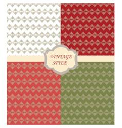 Vintage set with Damask ornaments pattern vector image vector image