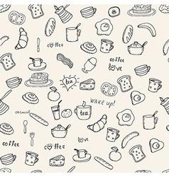 Breakfast pattern vector image vector image