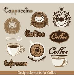 coffee design element vector image vector image