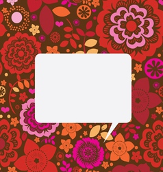 floral ornamental post card vector image