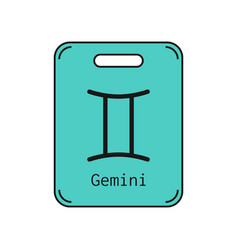 gemini sign of the zodiac flat symbol horoscope vector image vector image