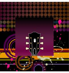guitar-grunge vector image vector image