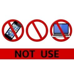 No signs not use simbols vector