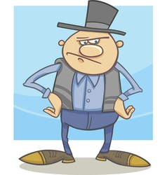 old farmer cartoon vector image