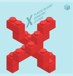 Plastic blocs letter x vector
