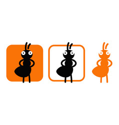 a graphic representation a confident termite vector image