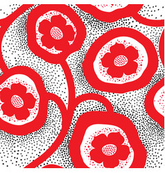 abstract floral ornamental pattern flower vector image