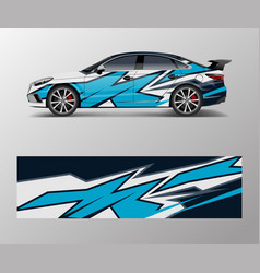 abstract sport racing car wrap decal and sticker vector image