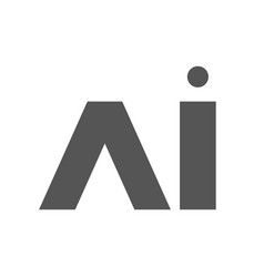 ai letters sign eps 10 vector image