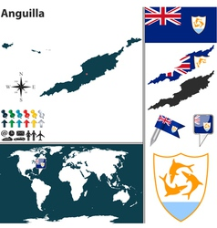 Anguilla map vector