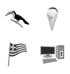 Animals traditions and other monochrome icon in vector