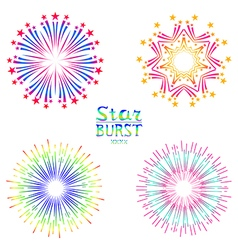 Background design with abstract fireworks and vector image