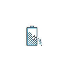 battery icon design essential icon vector image