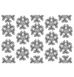 Black and White of Thai Vintage Wallpaper Pattern vector