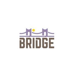 bridge typography letter symbol logo vector image
