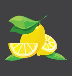 Bright lemons vector
