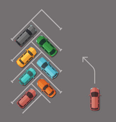 car parking lot top view vector image