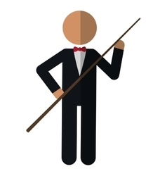 Character billiard player vector