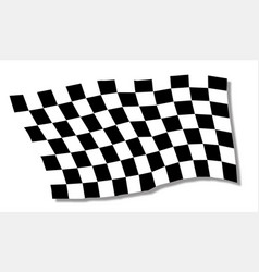 Chequered flag fluttering vector