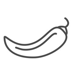 chili pepper line icon outline sign vector image