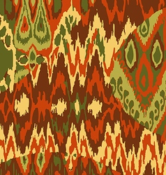 Colored ethnic print pattern abstract background vector image