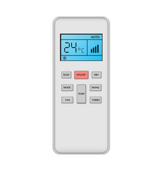 Conditioner remote control mockup realistic style vector