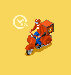 Courier delivery isometric icon vector