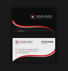 Creative and clean business card template black vector