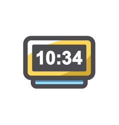 digital watch metal icon cartoon vector image