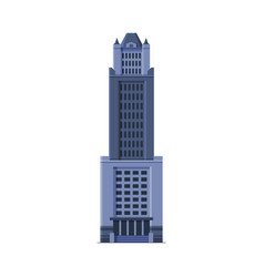 downtown skyscraper modern city business or vector image