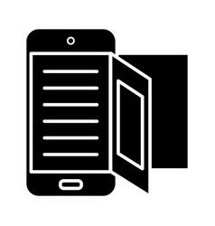 e-book - online reading icon vector image