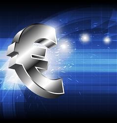 Euro money icon vector