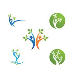 Family tree logo template icon design vector