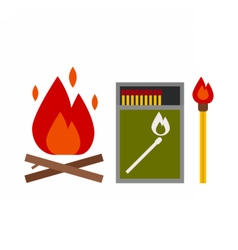 Fire Starter Kit vector image