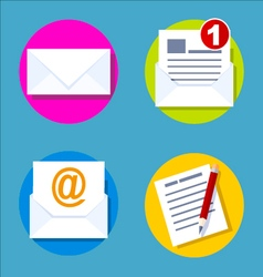 Flat design concept e-mail icon vector