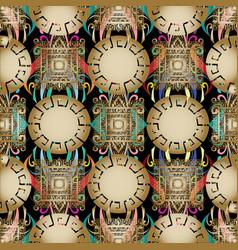 greek modern 3d geometric seamless pattern vector image